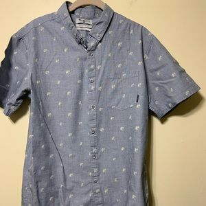 Billabong short sleeve button up medium